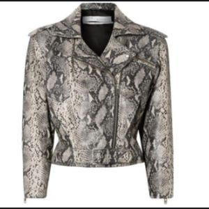 IRO Perrio snake leather jacket FR 36 NEW $1995!